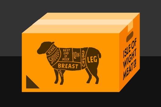 Isle Of Wight Half Lamb Box